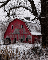 Winter Red Barn_0399