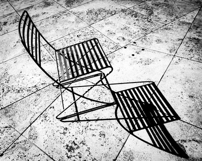 The chair and its shadow