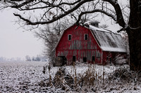 Winter Red Barn_0397