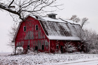 Winter Red Barn_0403